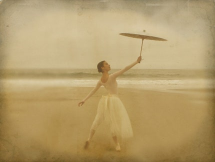 Ballerina on the Beach 8x10 Fine Art Photograph