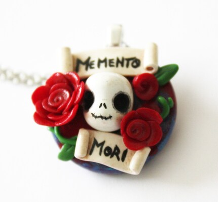 FREE SHIPPING - Memento Mori - Skull Pendant Necklace
