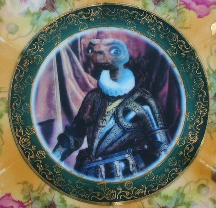Portrait of E.T., Prince of Spain 1582 - Altered Antique Plate