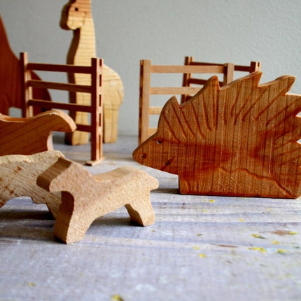 Handmade Wooden Zoo