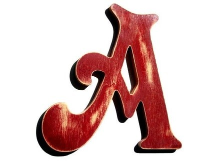 WOODEN WALL HANGING LETTER A