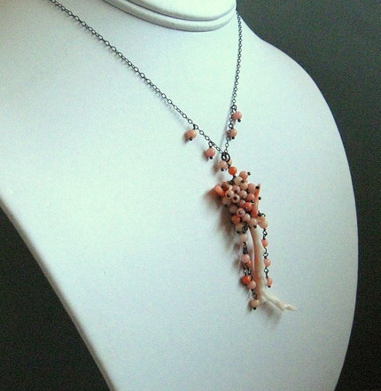 CORAL NECKLACE-BRANCHING OUT