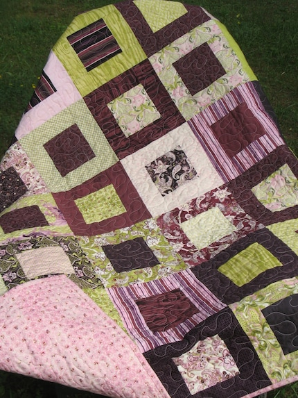 Lap/ Baby Quilt in Eva by Basic Grey -- pattern also available