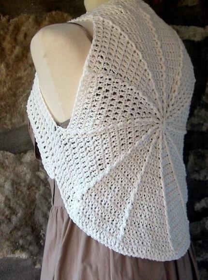 Cotton Circular Shrug Crochet Pattern PDF by Thesunroomuk on Etsy Craftjuic...