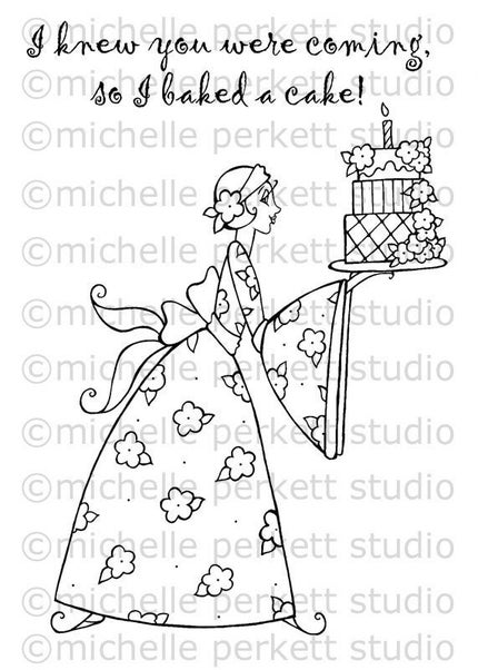 DIGITAL STAMP - BELLA THE BAKER