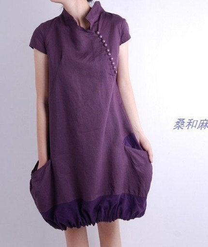 Cheongsam style dress by sanghema on Etsy from etsy.com