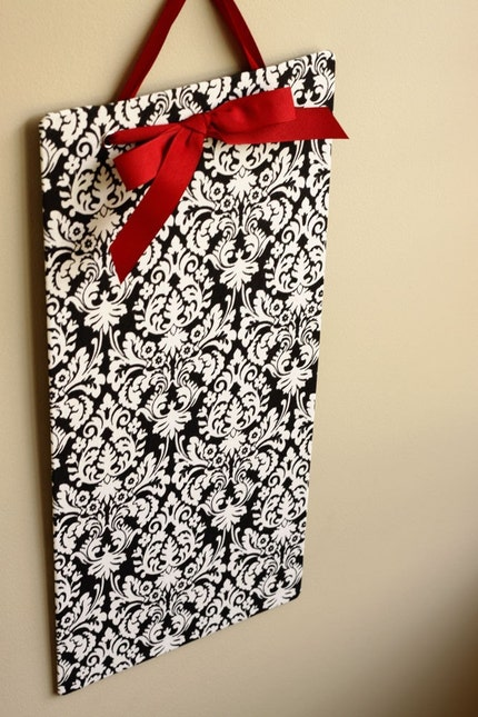 Tall/Skinny (9.5x20) Fabric Covered Magnet Board - Black Mini Muse