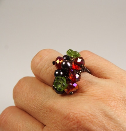 Holly and the Ivy Floral Posy Beaded Ring