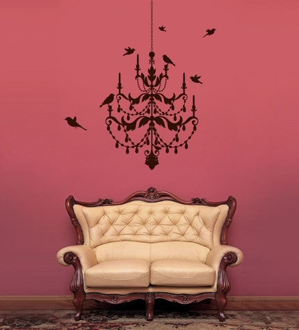 Vinyl Wall Sticker Decal Art - Chandelier Wall Decal