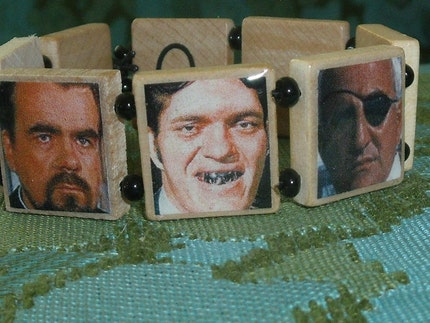 BOND SUPER VILLAINS Scrabble Tile Bracelet