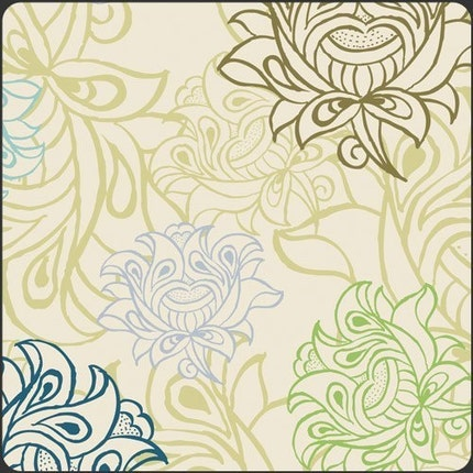 Alhambra II Arabesque Buds Ivory by Art Gallery Fabrics - 1 yard