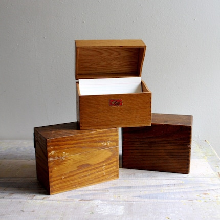 Wooden Card File