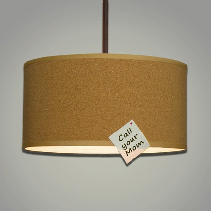 Cork Drum Shade Pendant