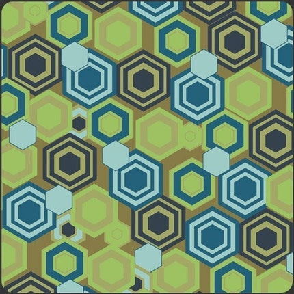 Alhambra II Tile Reflections Olive by Art Gallery Fabrics - 1 yard