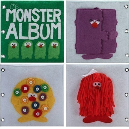The Monster Album - ePattern for a Child's Quiet Book