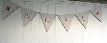 NOEL Christmas burlap banner bunting