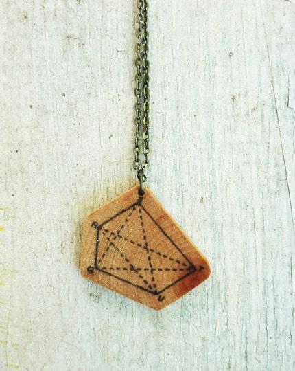 polygon geometry diagram pendant