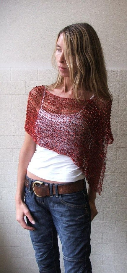 Red Firefly poncho Ltd Edition 2 -3 left