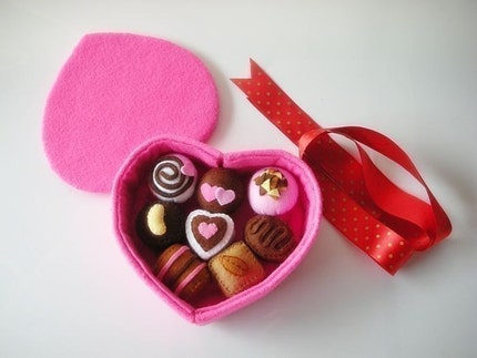 Sweet Chocolate Gift Set PDF Felt Pattern