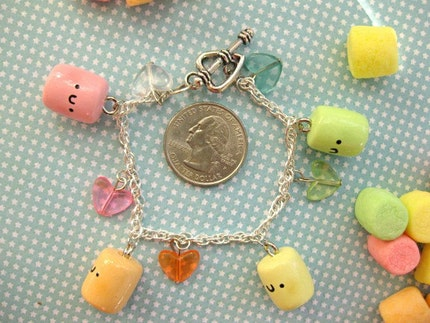 Colorful Marshmallow Charm Bracelet