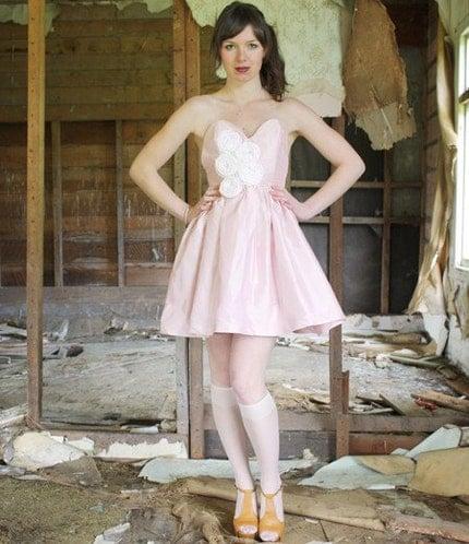 Rosette Dress, Pink