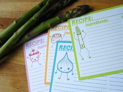 4x6 Recipe Cards-Pack of 20-Sweet and Savory Series