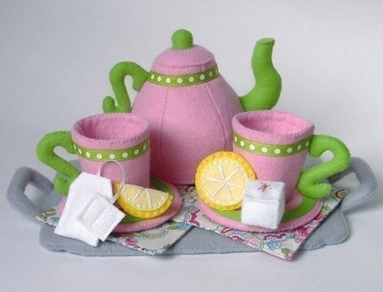 Felt Food Tea Set - PDF Pattern