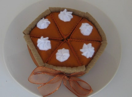 Whole Felt Pumpkin Pie