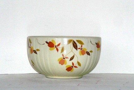 Jewel Tea, Autumn Leaf Pattern, Small Round Mixing Bowl