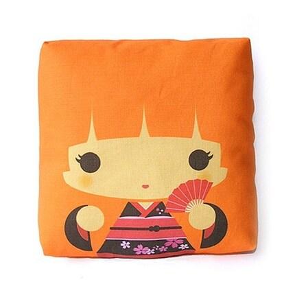 Geisha Haruko - Orange Mini Pillow
