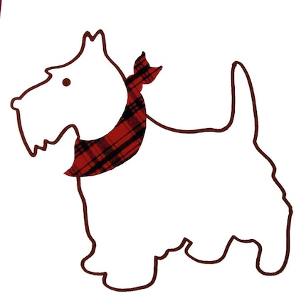 Cute Scottie Dog Card 5 x 7 Illustration