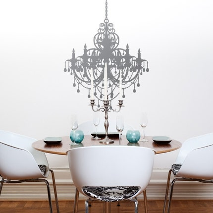 Chandelier Silihouette .. vinyl wall decal