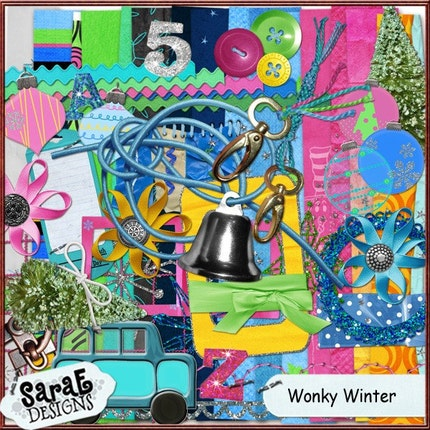 Wonky Winter  - Digital Scrapbook Page Kit