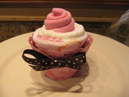 Baby Diaper Cupcake Gift- Girl