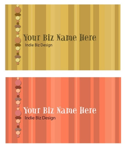 Diana Levin Business Card Stripe Designs