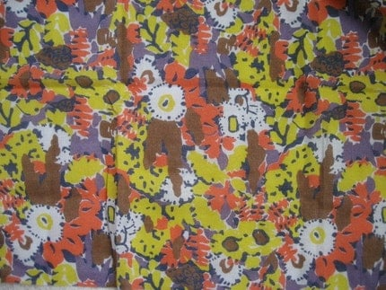 1.3Y Vintage Lightweight Abstract Floral Fabric