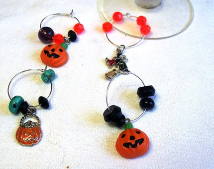 Halloween Wine Charms - set of 4