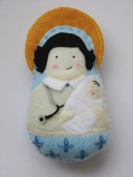 Saint Gianna Beretta Molla...Felt Softie