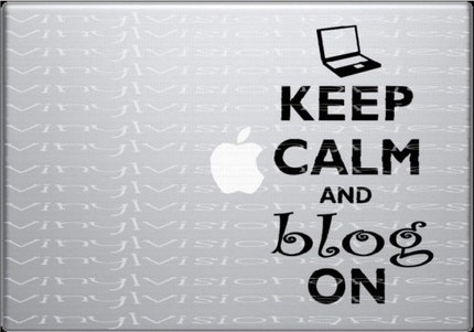 Macbook Decal WWII Inspired Keep Calm Blog On ORIGINAL Design
