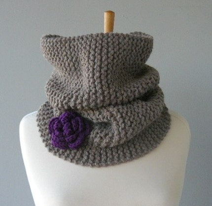 COCOA COFFEE LATTE OVERSIZED COWL