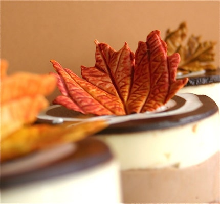PETITE Edible Sugar Fall Leaves 24