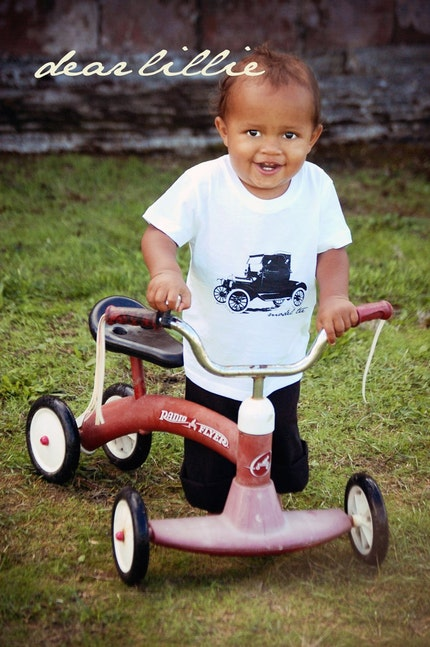 Model Tee Toddler Shirt in Black and White - K