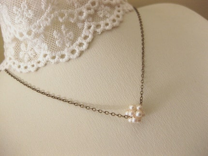 Tiny bubbles. Sweet necklace. Simple. Classic. Choose your color.