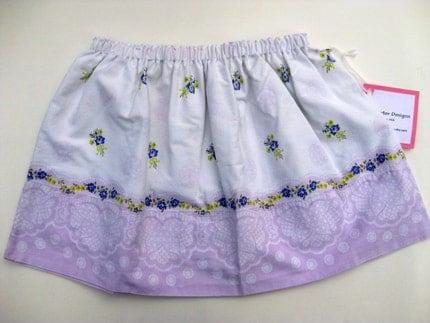 Vintage Purple Eco Toddler Skirt 4T by Big Sister Designs