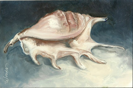 SEA SHELL Small Practice Painting by Lindy 6x9