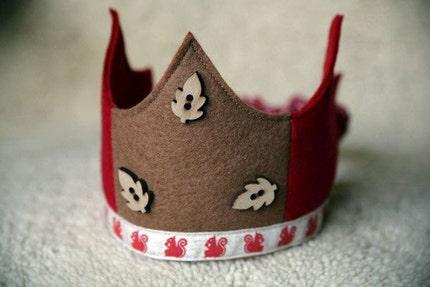 Wool Felt Crown - Red Squirrel