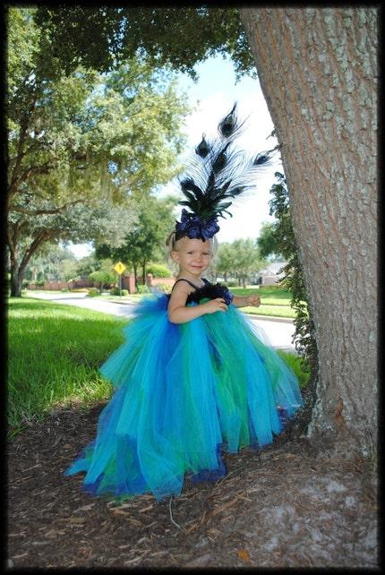 Infant Toddler Peacock Tutu Dress Infant Toddler Clothing