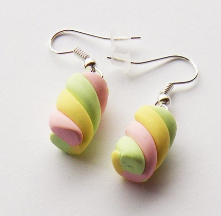 Rainbow Marshmallow Earrings