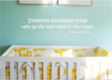 Sometimes the smallest things... - Winnie the Pooh Vinyl Wall Art