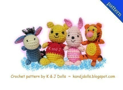 Winnie the Pooh and Friends PDF Amigurumi crochet pattern